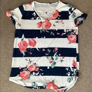 Soft floral strappy shirt